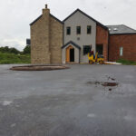 Completed car park in Peatling Magna